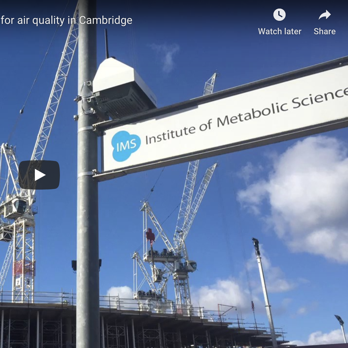 AQMesh demonstrates legitimacy of small sensors for air quality in Cambridge