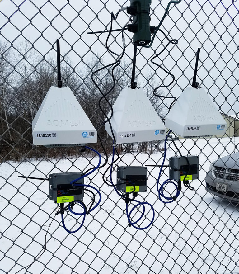 AQMesh thrives through another harsh Winter